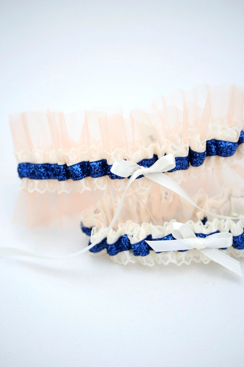 custom-wedding-garter-navy-glitter-peach-tulle-the-garter-girl-5