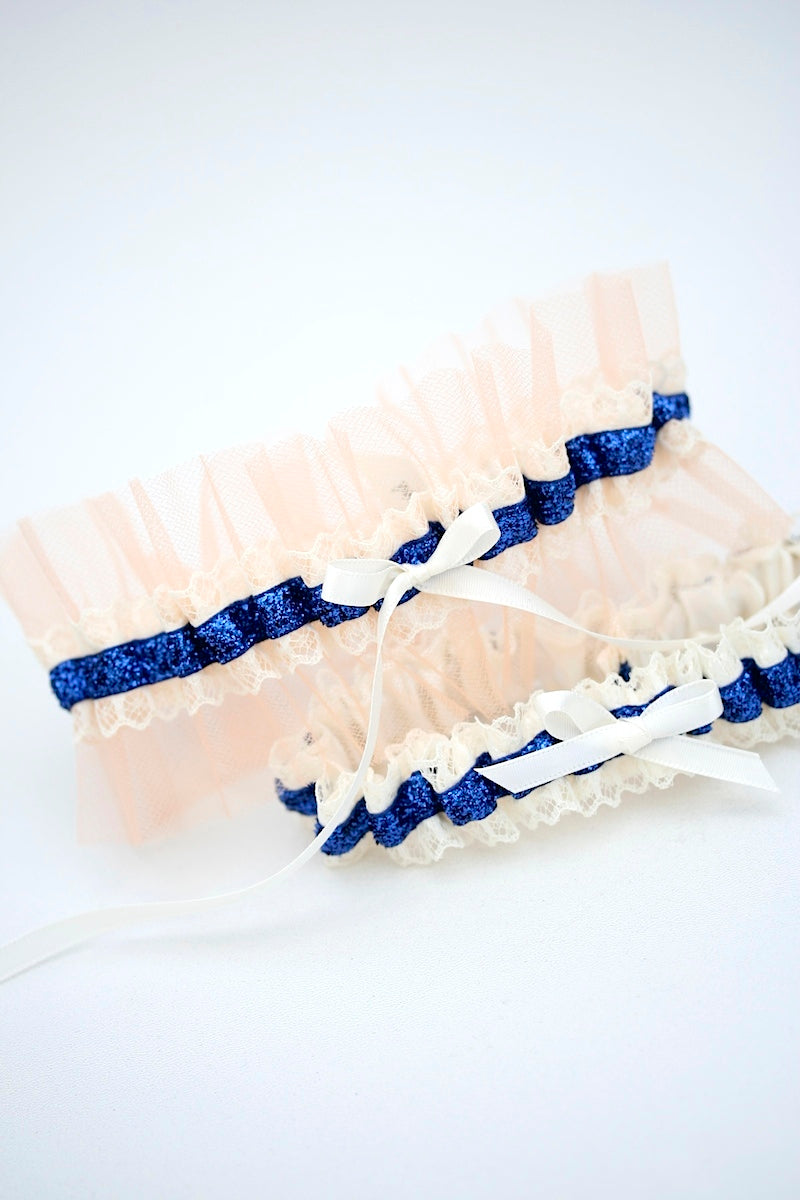 custom-wedding-garter-navy-glitter-peach-tulle-the-garter-girl-6