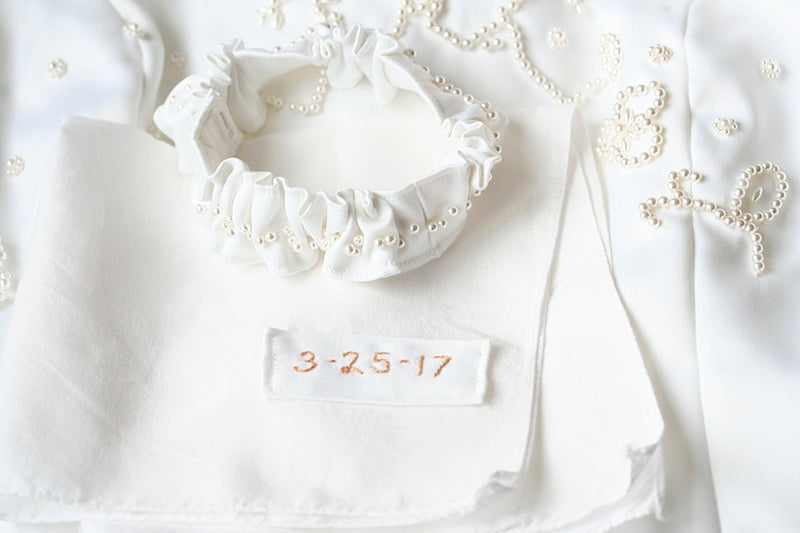 embroidered-wedding-hanky-made-from-wedding-dress-The-Garter-Girl