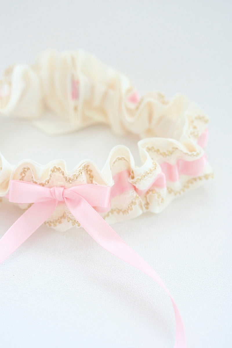girlie-blush-gold-wedding-garter-The-Garter-Girl