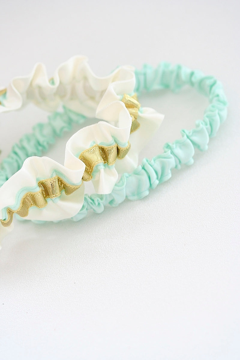gold-mint-wedding-garter-The-Garter-Girl