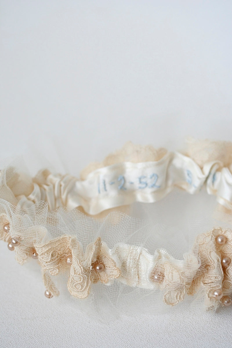 wedding date on inside of garter
