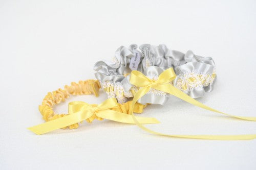 gray-yellow-bridal-garter-set-The-Garter-Girl