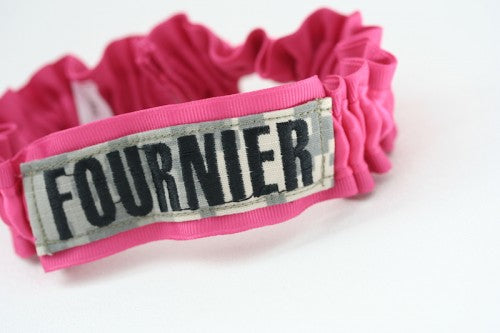 hot-pink-military-name-tape-bridal-garter-The-Garter-Girl1