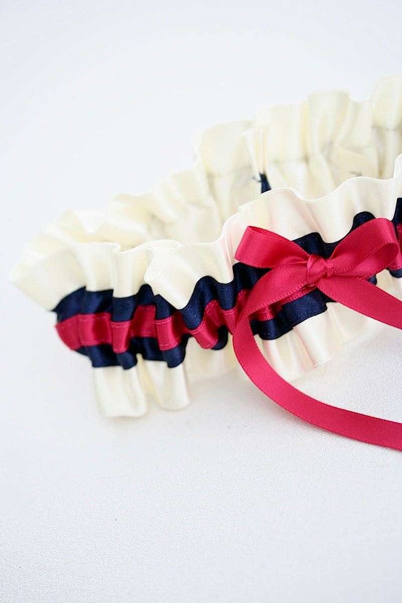 hot-pink-navy-wedding-garter-the-garter-girl