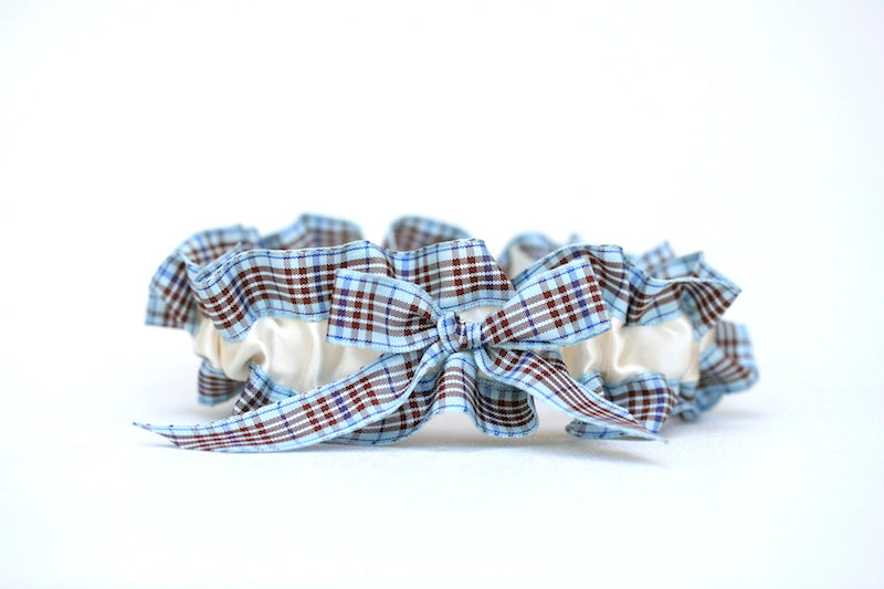 ivory-blue-plaid-wedding-garter-set-The-Garter-Girl-1