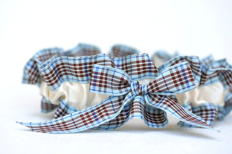 ivory-blue-plaid-wedding-garter-set-The-Garter-Girl-2