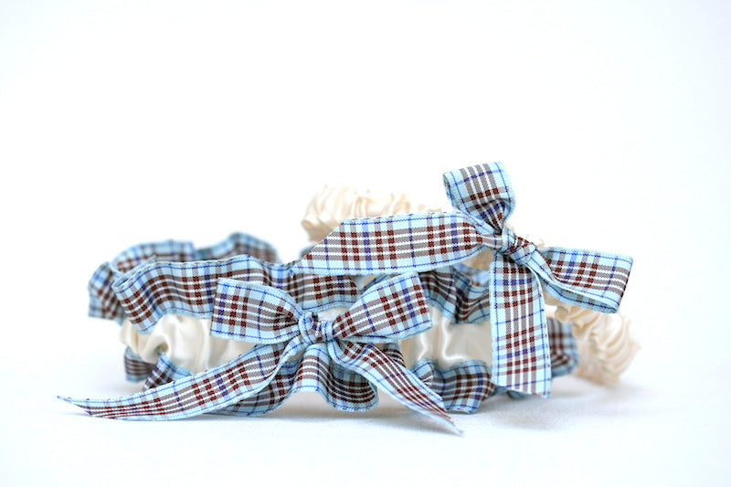 ivory-blue-plaid-wedding-garter-set-The-Garter-Girl