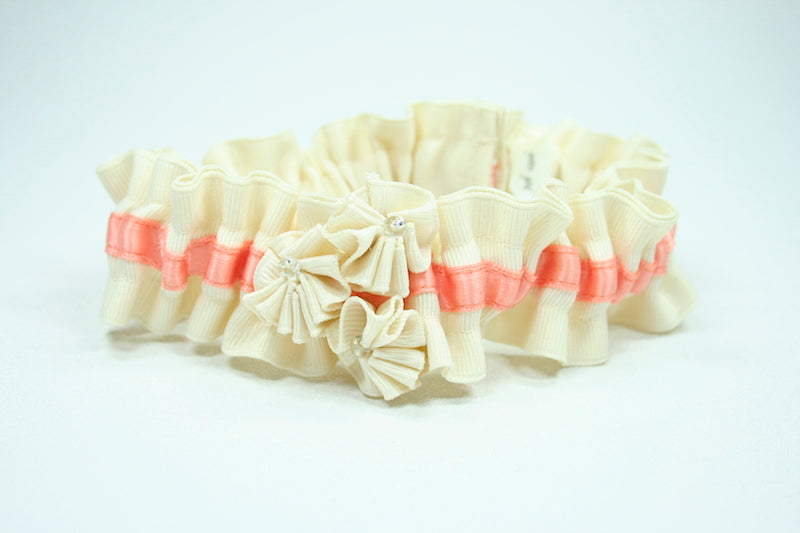 ivory-coral-custom-wedding-garter-The-Garter-Girl