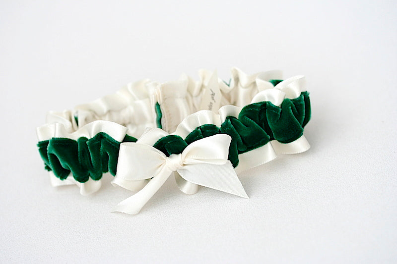 ivory-green-velvet-wedding-garter-the-garter-girl