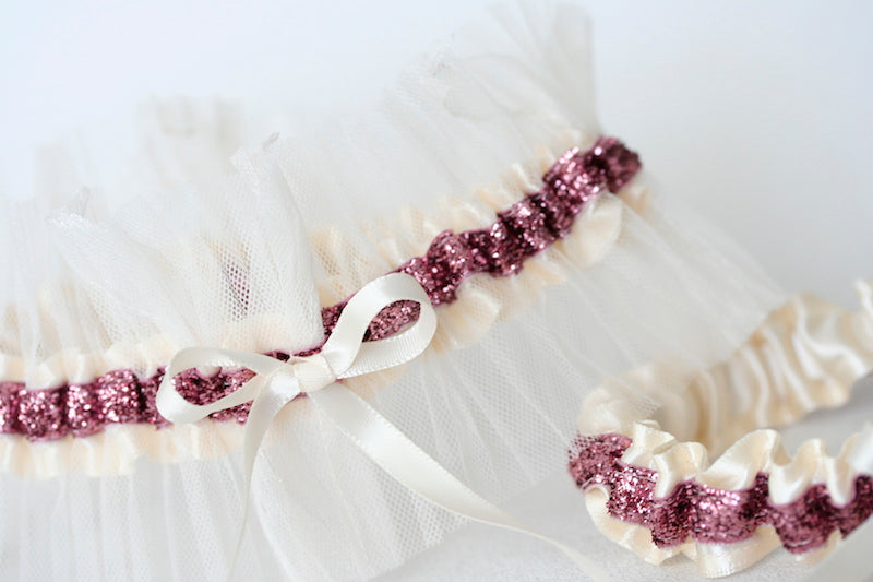 ivory-lace-pink-glitter-bridal-garter-The-Garter-Girl2