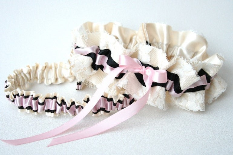 ivory-lace-with-pink-and-black-details-garter-set-wedding-garter-the-garter-girl-770x513