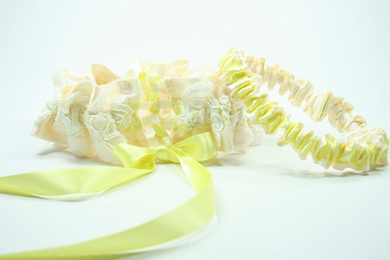ivory-lace-yellow-custom-wedding-garter-The-Garter-Girl-1