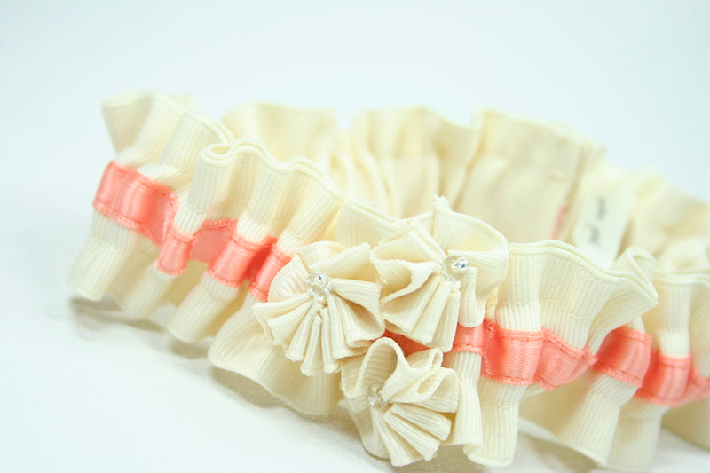 ivory-peach-custom-wedding-garter-The-Garter-Girl