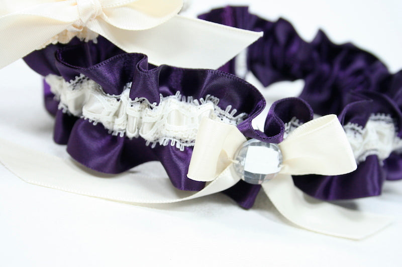 ivory-purple-sparkle-custom-wedding-garter-The-Garter-Girl-3