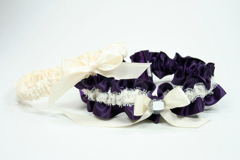 ivory-purple-sparkle-custom-wedding-garter-The-Garter-Girl
