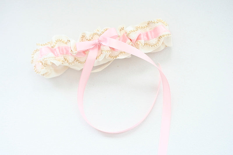 light-pink-gold-wedding-garter-The-Garter-Girl