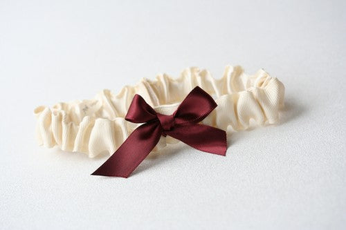 marsala-ivory-wedding-garter-The-Garter-Girl-1