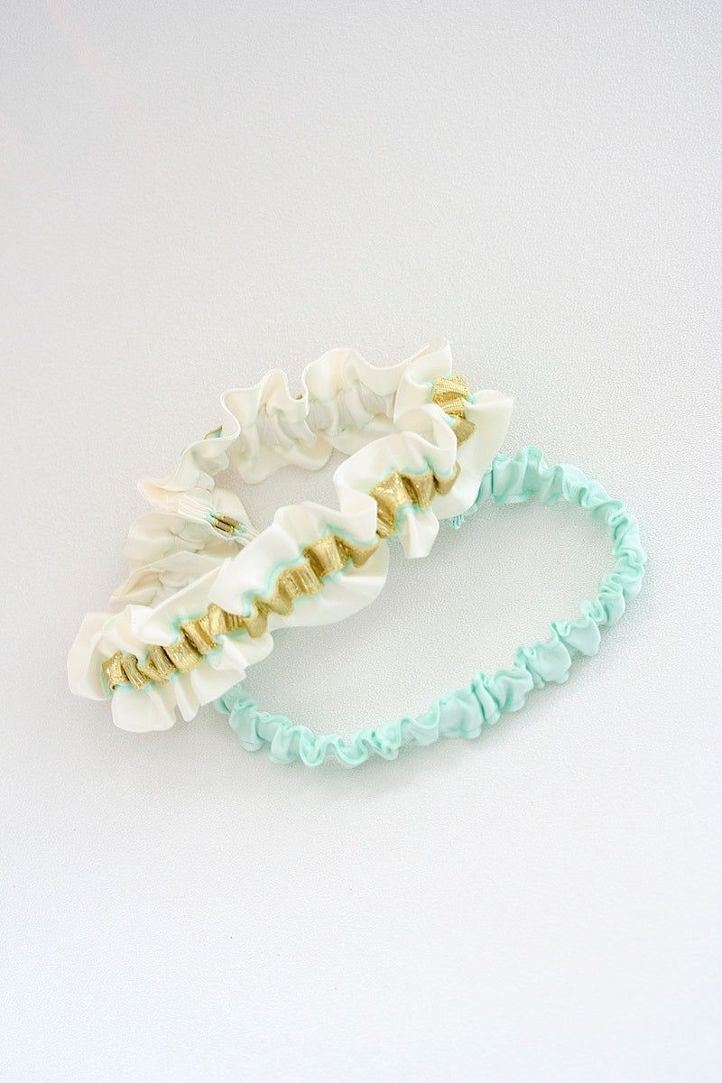 mint-gold-wedding-garter-The-Garter-Girl