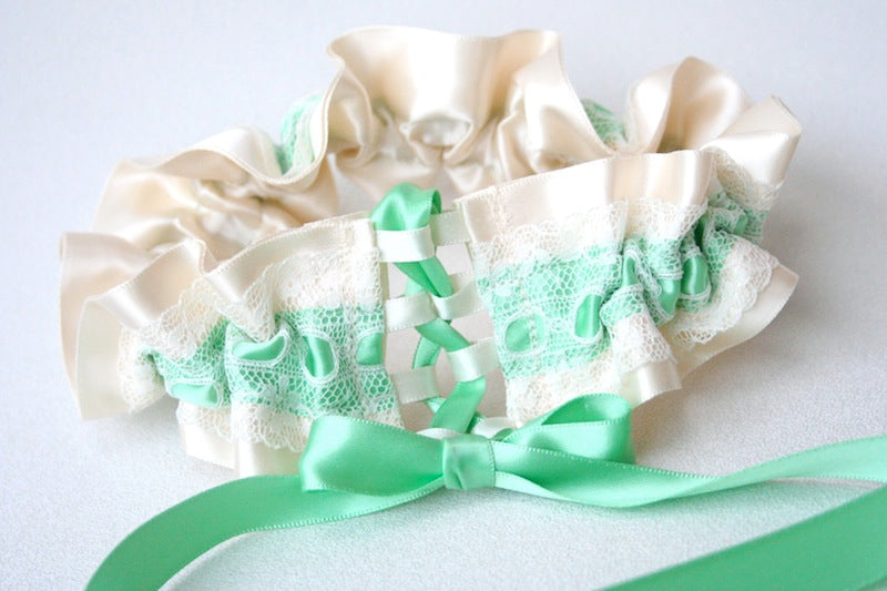 mint-green-corset-tie-wedding-garter-The-Garter-Girl