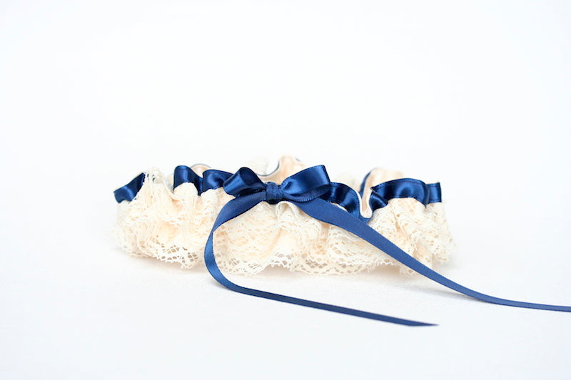 navy-blue-ivory-ruffled-wedding-garter-The-Garter-Girl-2