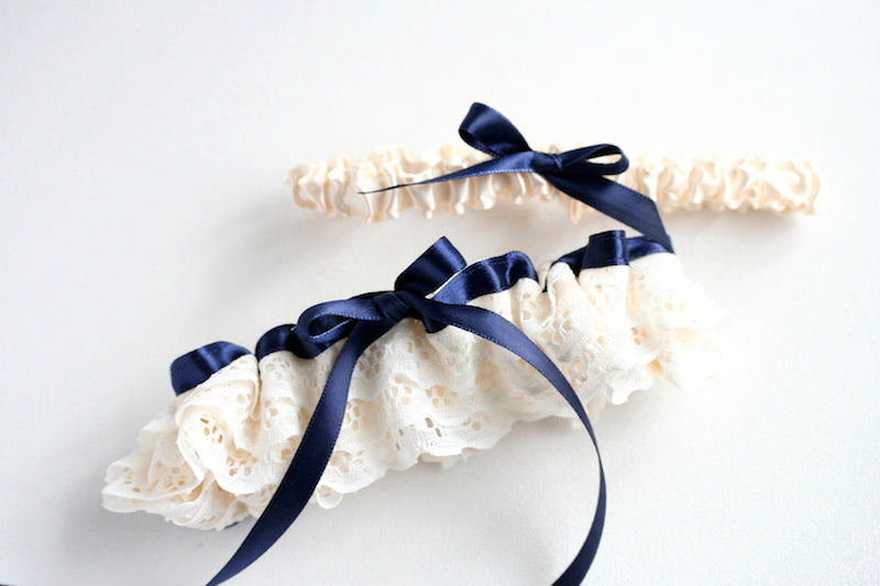 navy-blue-lace-wedding-garter-set-The-Garter-Girl