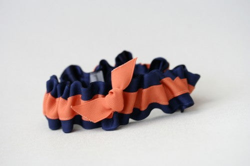 navy-burnt-orange-wedding-garter-The-Garter-Girl