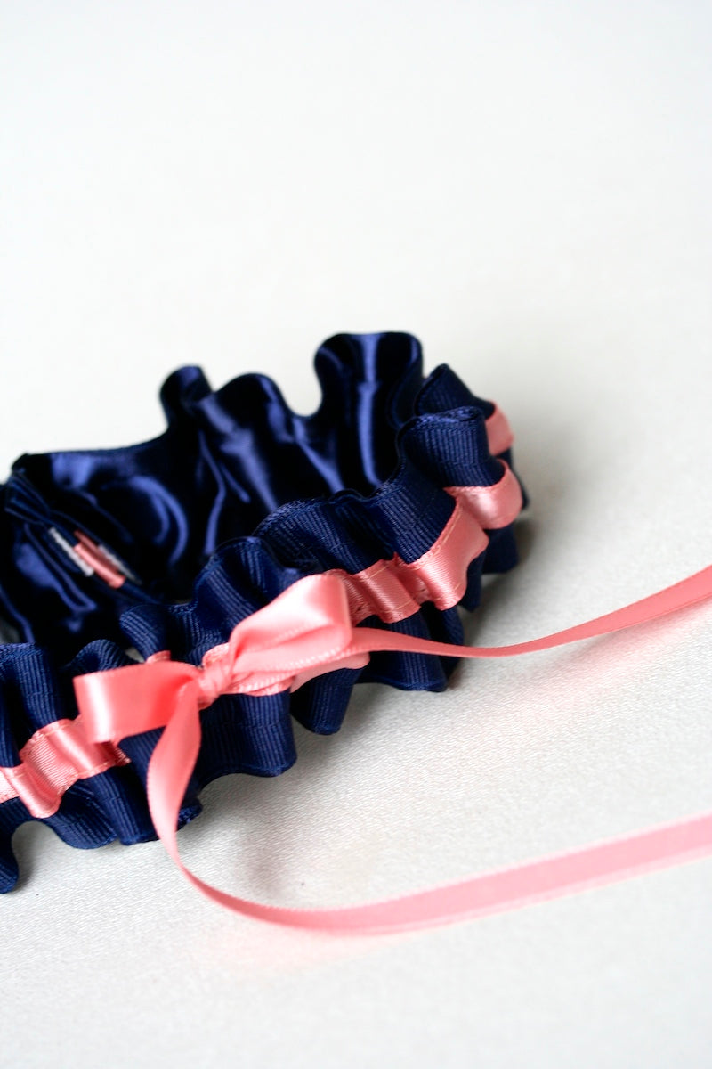navy-coral-wedding-garter-The-Garter-Girl-1