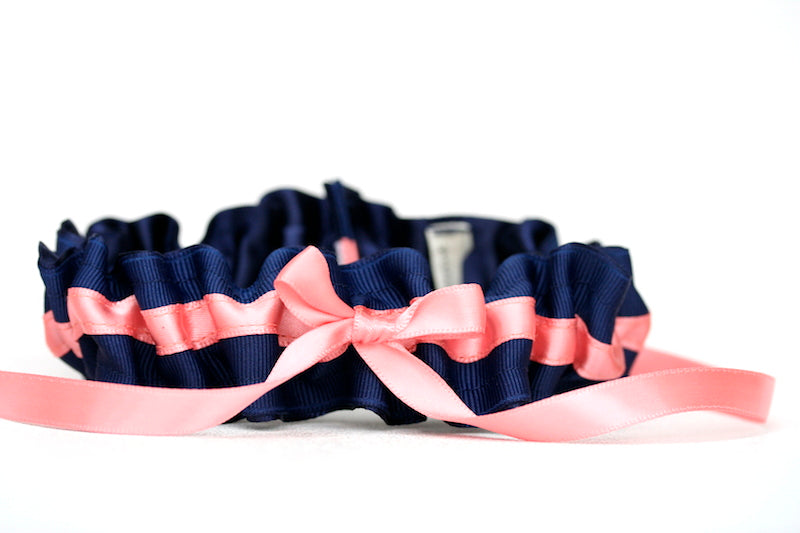 navy-coral-wedding-garter-set-The-Garter-Girl-1