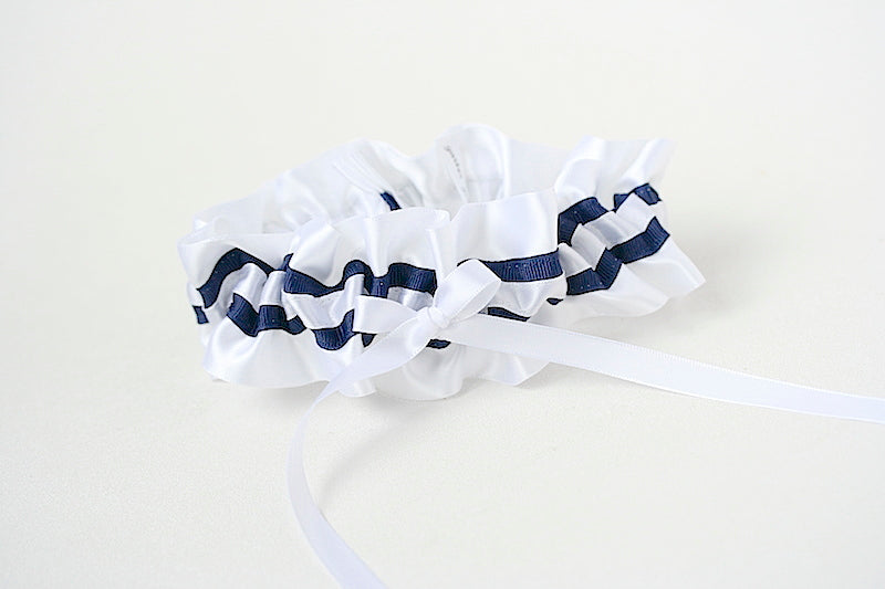 navy-white-wedding-garter-The-Garter-Girl