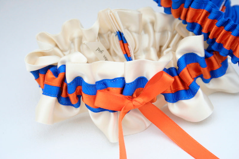 orange-blue-custom-wedding-garter-The-Garter-Girl