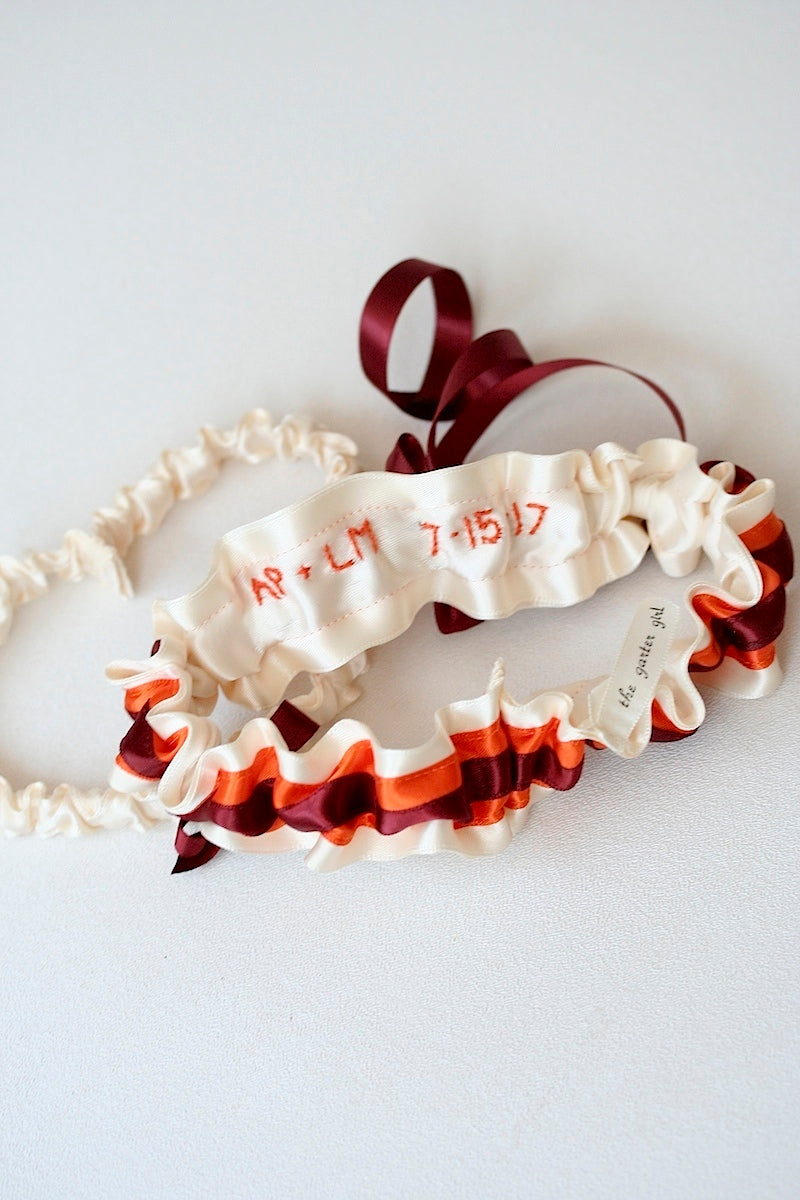 orange-maroon-wedding-garter-The-Garter-Girl