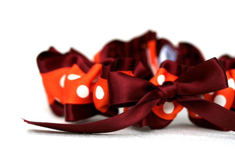 orange-polka-dot-wedding-garter-The-Garter-Girl