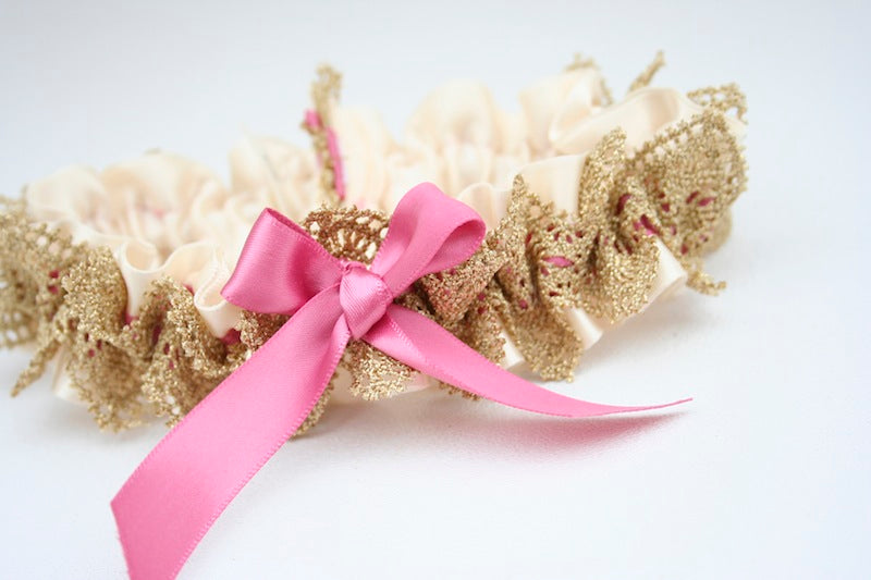 pretty-metallic-wedding-garter-The-Garter-Girl