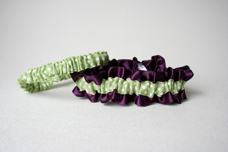 purple-sage-green-polka-dot-wedding-garter-set-The-Garter-Girl1