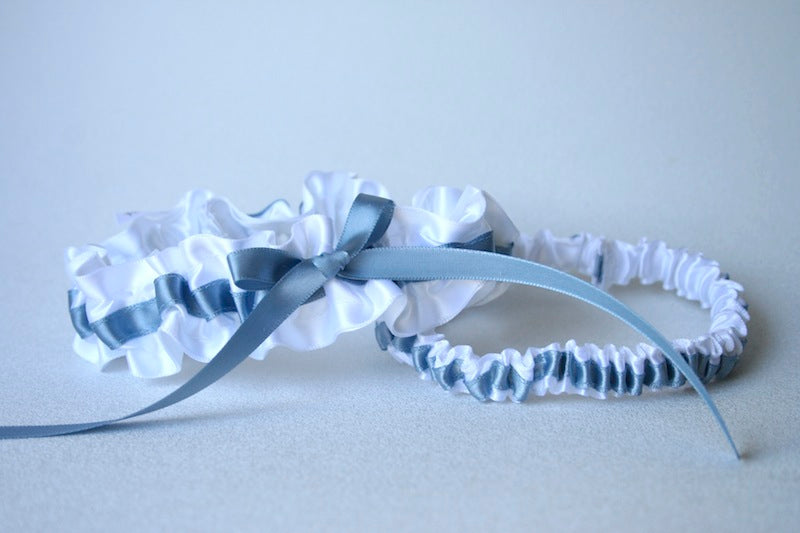 simple-white-blue-custom-wedding-garter-The-Garter-Girl