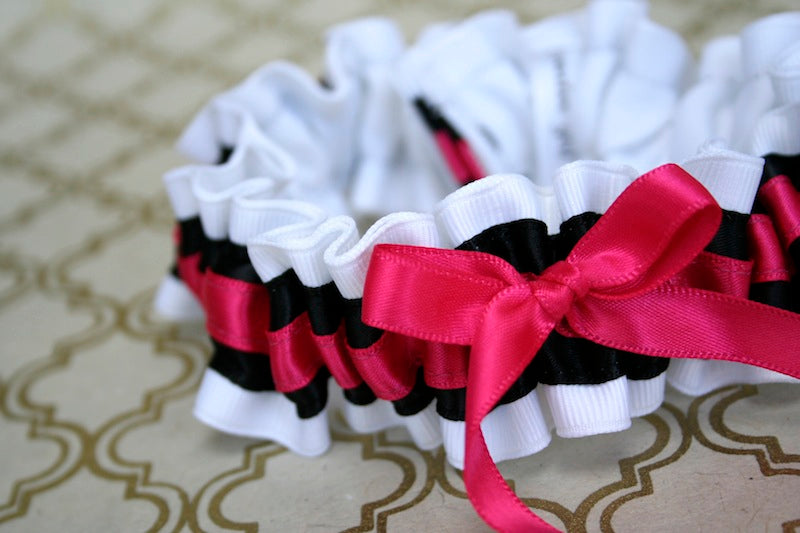 stylish-custom-weddin-garter-white-black-pink-The-Garter-Girl1