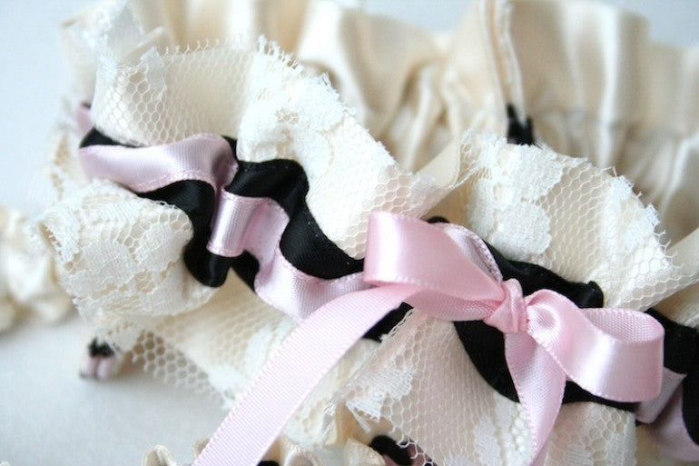 stylish-ivory-lace-with-pink-and-black-details-wedding-garter-the-garter-girl-770x513
