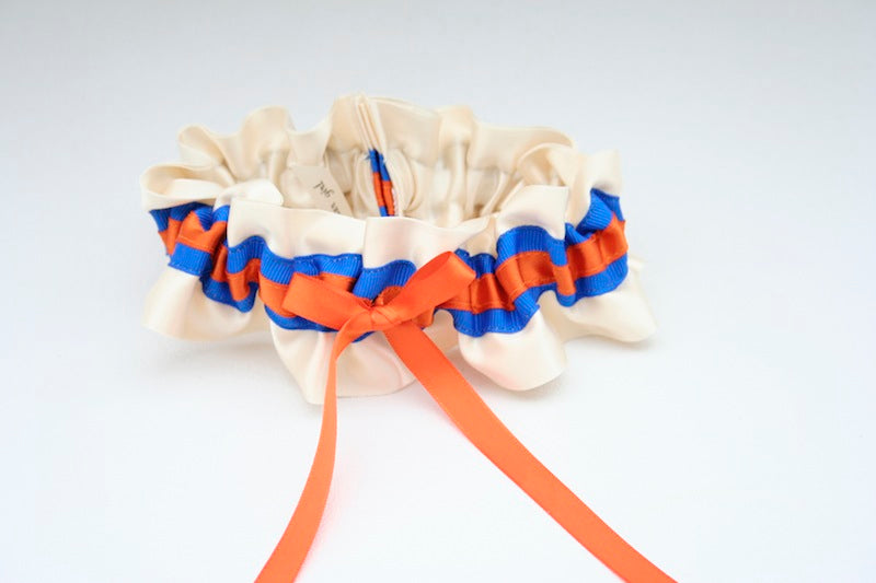 stylish-orange-blue-wedding-garter-The-Garter-Girl