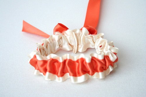 tangerine-wedding-garter-The-Garter-Girl