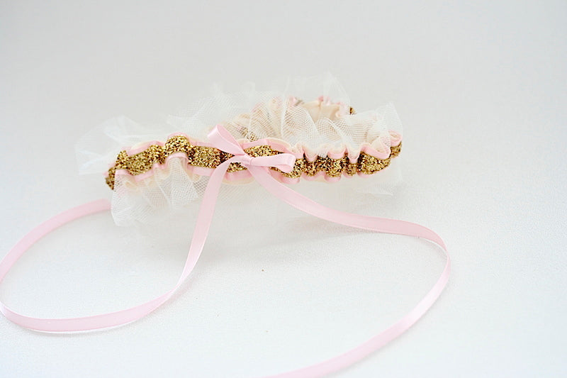 tulle-blush-gold-glitter-wedding-garter-The-Garter-Girl