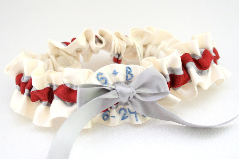 unique-ivory-red-and-gray-wedding-garter