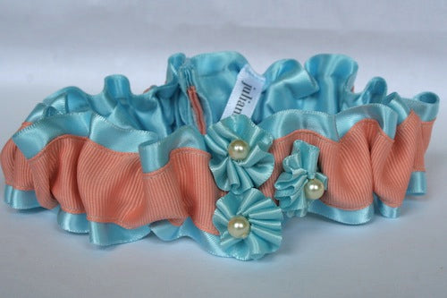 unique-wedding-garter-blue-peach-pearls-The-Garter-Girl-by-Julianne-Smith