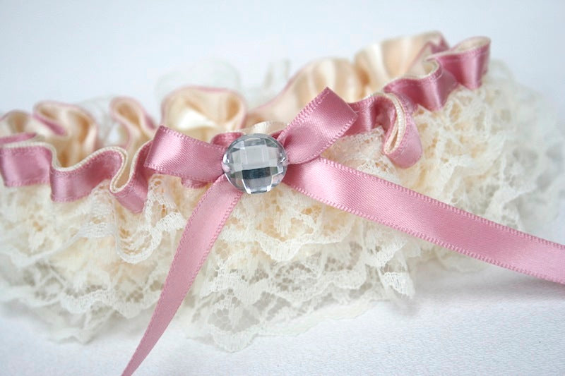 wedding-garter-ivory-lace-pink-sparkle-The-Garter-Girl 9.15.14 PM