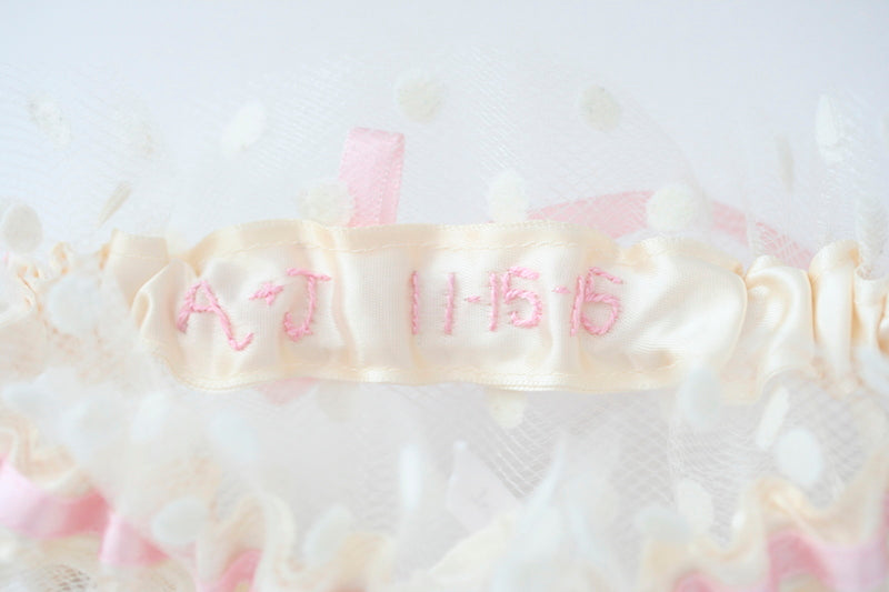 wedding-garter-light-pink-polka-dot-The-Garter-Girl-2