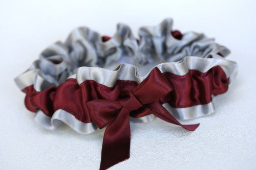 wedding-garter-maroon-gray-The-Garter-Girl-2