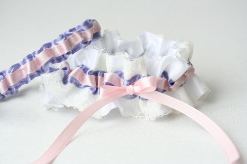 white-lace-lavender-pink-bridal-garter-The-Garter-Girl