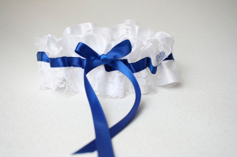 white-lace-royal-blue-wedding-garter-The-Garter-Girl
