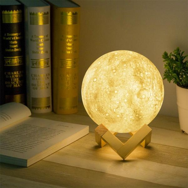 LUNE LUMINEUSE 3D, MOON LIGHT