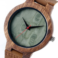 Montre Nature en bois, faite main